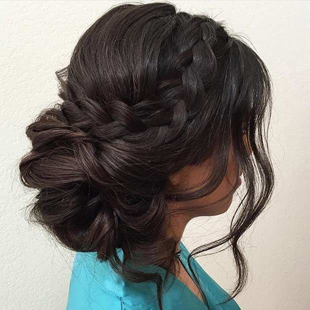 Bun to the Side with a Braid