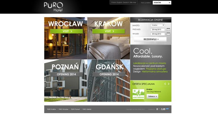 UX Design for PURO Hotel #UX design #GUI design #UI design