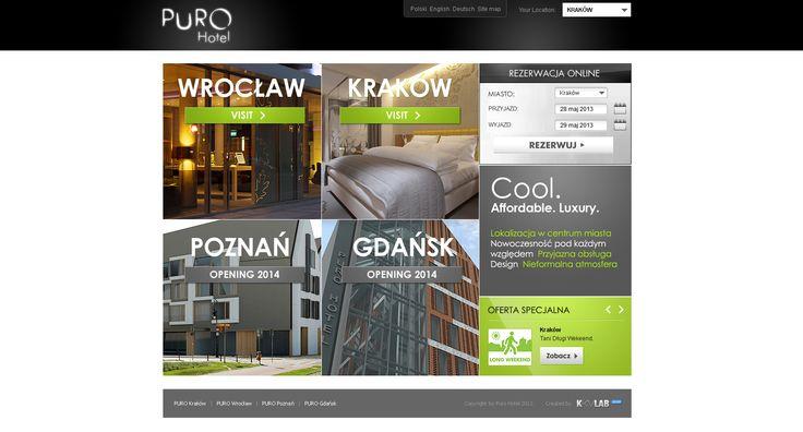 UX Design for PURO Hotel #UX design #GUI design #UI design