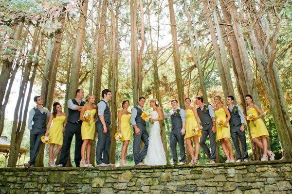 Yellow and Grey Wedding // Jessie + Brian's Rustic Mansion Wedding - DIY Bride