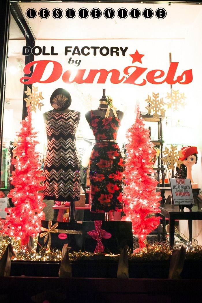 Doll Factory by Damzels Doll Factory by Damzels is the fun and flirtatious shop of well loved Canadian dress designers Damzels In This Dress; a pink and glittery wonderland for dress lovers, purveyors of pop culture, rock stars and the gals who just want to look like one!