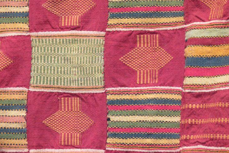 Ewe cloth from Ghana at Kim Sacks Gallery in Johannesburg
