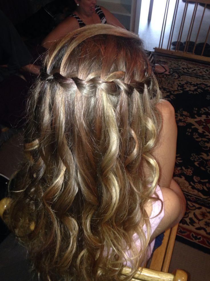 Formal Hair by Suzie -Waterfall Braid   www.aneyeforstyle.com.au