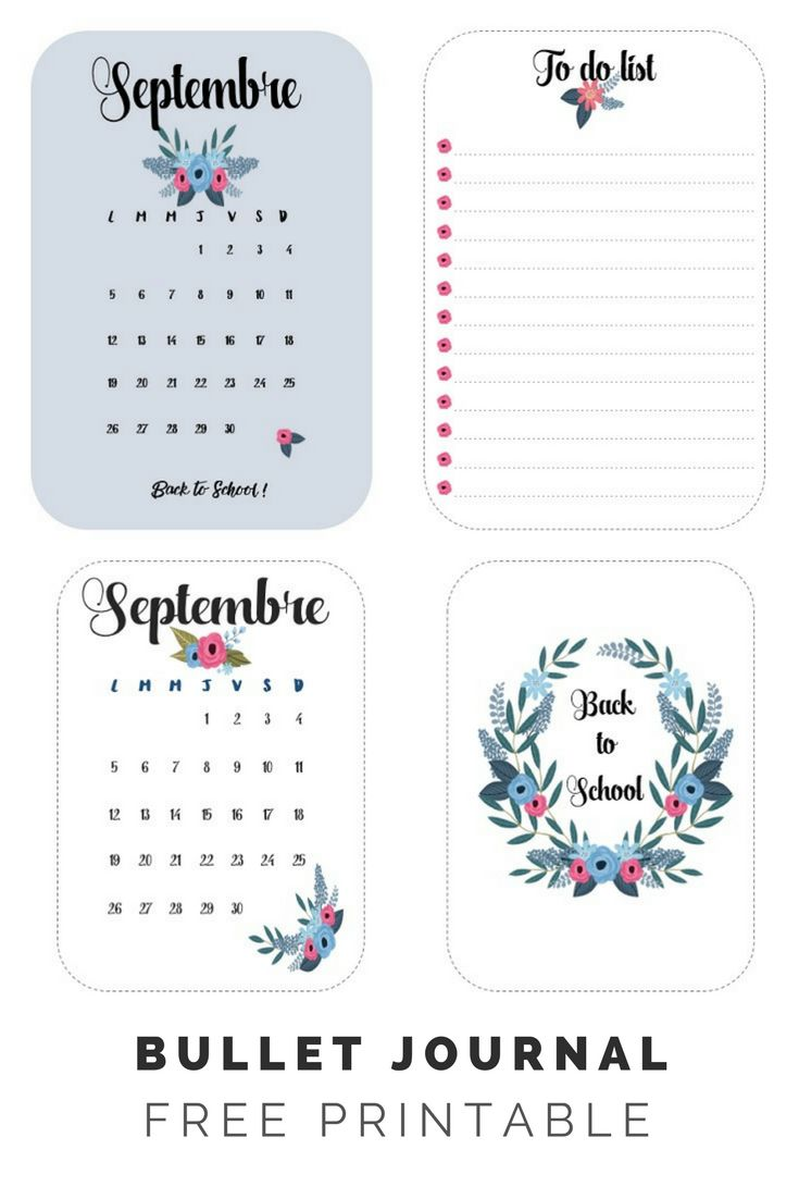 bullet journal free printable septembre back to school