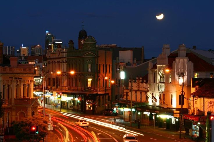 A beautiful photo of Newtown (Sydney) at night.  A great place to get fantastic cheap international food.  Many good times spent here with Uni friends.