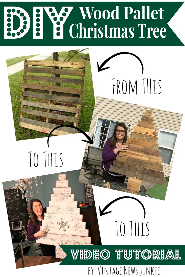 DIY Wood Pallet Christmas Tree Video Tutorial #12DaysofTrees
