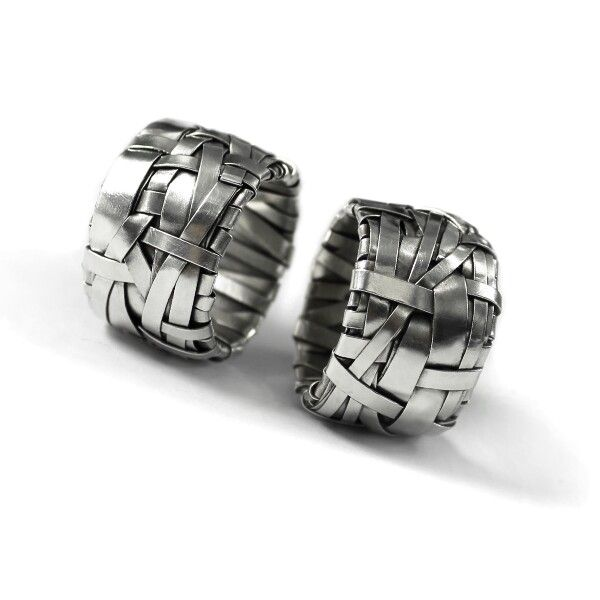 woven series rings ~ uniquely crafted to order in sterling silver by gurgel-segrillo  #LoveIsLove