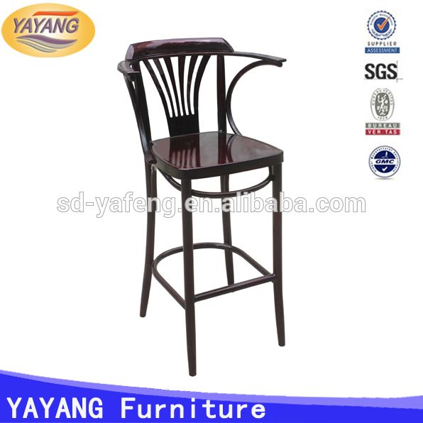 Source metal used heavy-duty cheap dining high bar restaurant tables and chairs for sale with arm on m.alibaba.com