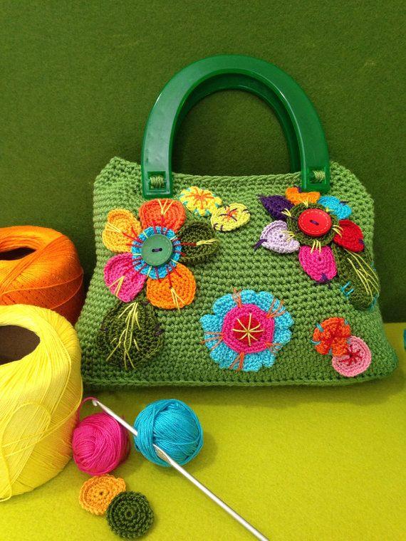 Borsa crochet Crochet bag di ArtiGinosaMente su Etsy