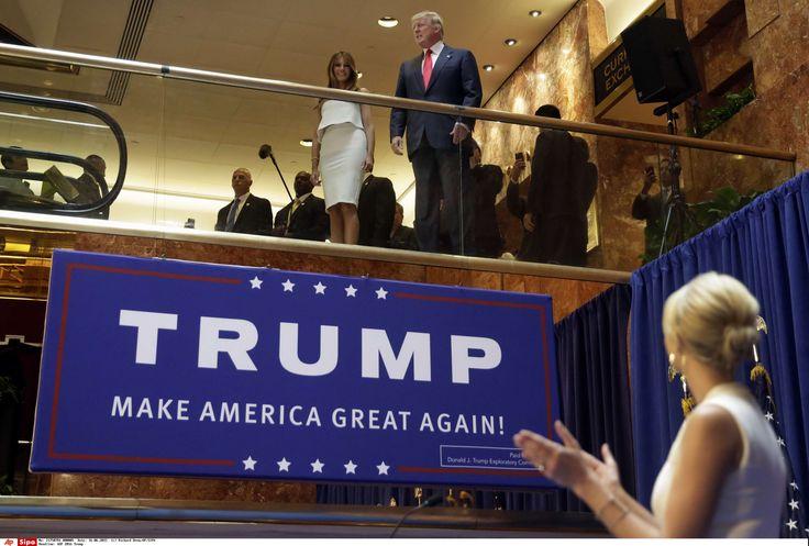 Ivanka Trump, fille de Donald Trump, présente son père et sa belle-mère Melania, à la Trump Tower lors de l\'annonce de candidature du milliardaire à la primaire républicaine, le 16 juin 2015.