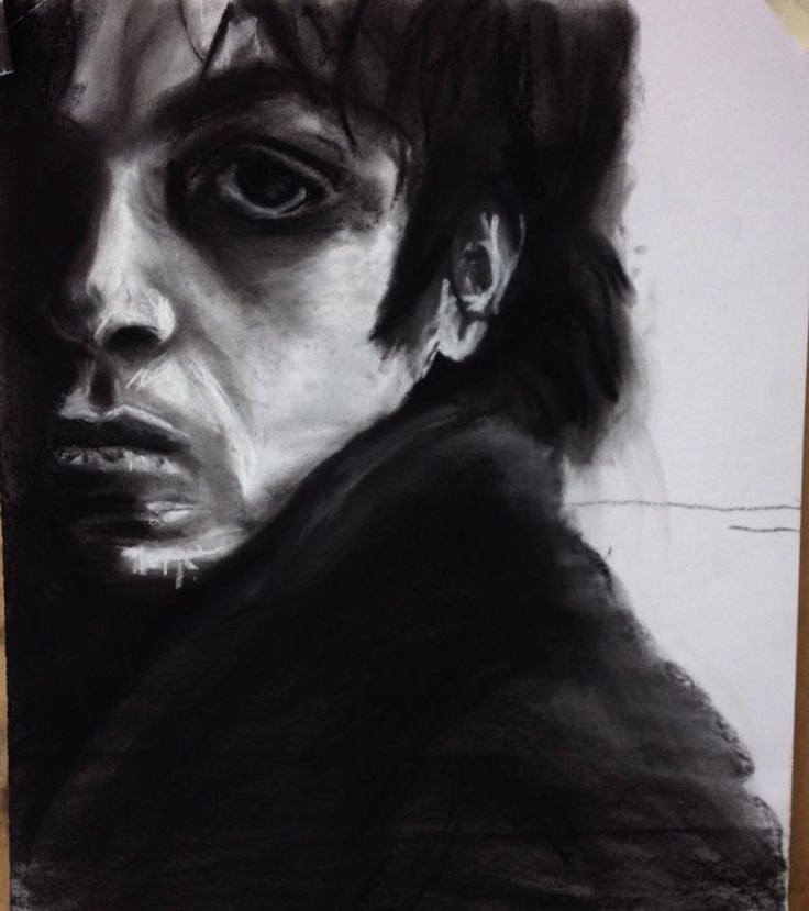 Into Darkness - Charcoal by Max Streeter