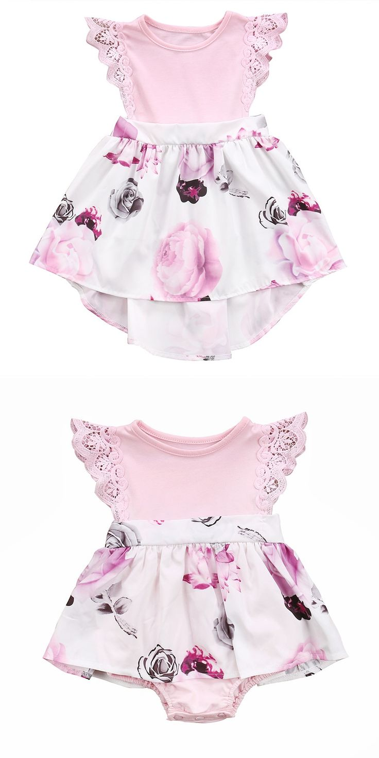 Family Sister Floral Matching Clothing Newborn Baby girls Kids lace Summer Floral Romper &Dress clothes outfits Toddler Clothing