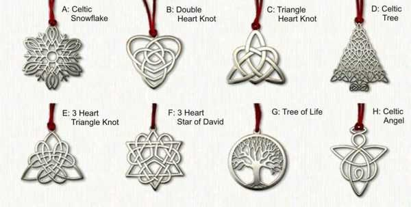 Celtic Christmas Ornaments Yule And Christmas