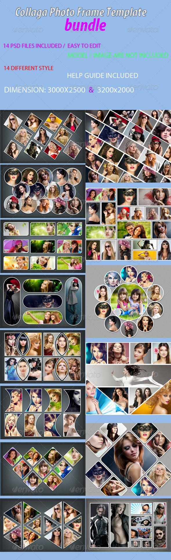 Collaga Photo Frame Template bundle #design Download: http://graphicriver.net/item/-collaga-photo-frame-template-bundle/7091599?ref=ksioks