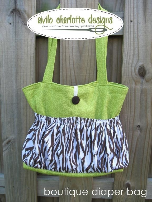 Sewing pattern for nappy bag