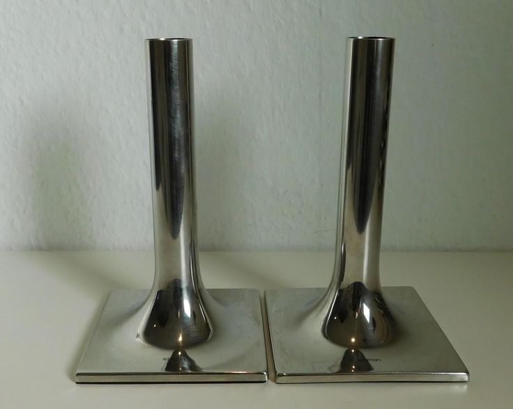 Stelton Classic Candle Holders - pair by SilverfernDK on Etsy