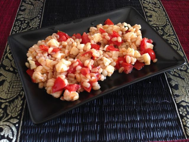 Myeu appunti vegetariani: Insalata d'orzo perlato ( variante 2 )