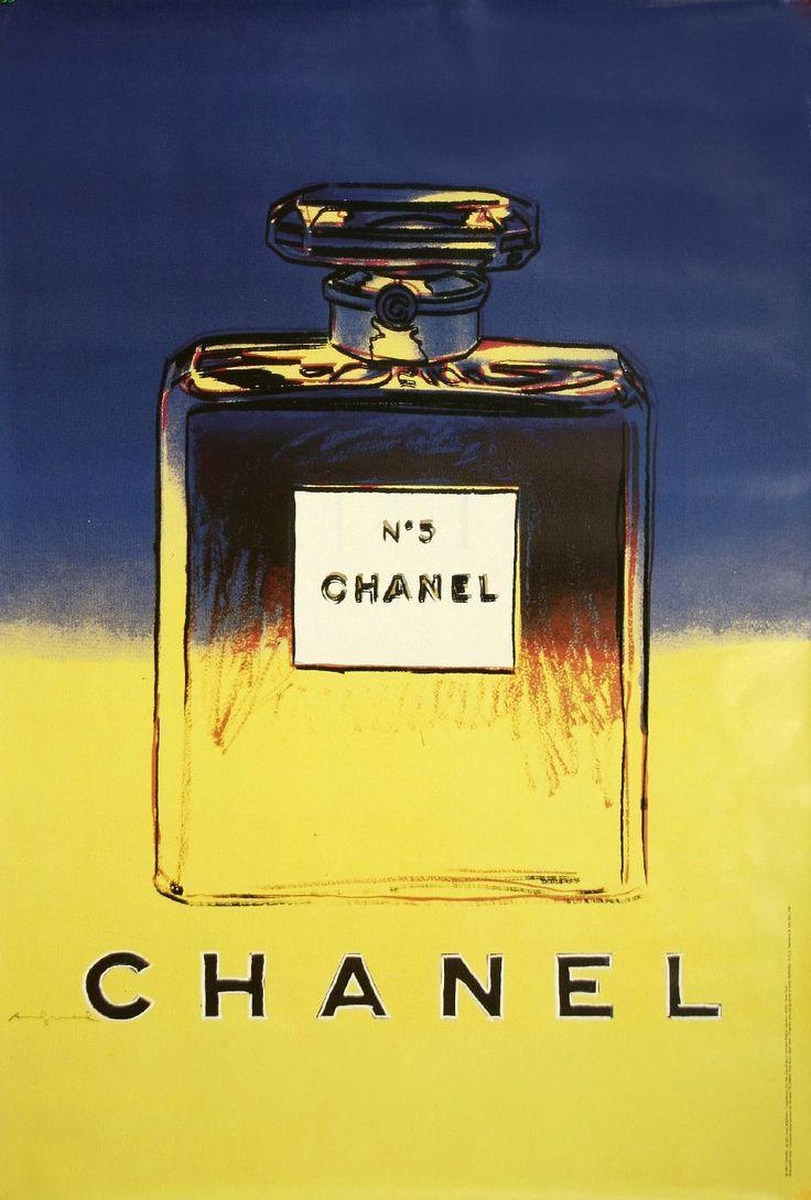 Chanel No 5 Perfume Blue Yellow Andy Warhol Pop Art