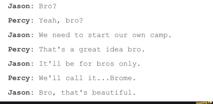 Actual conversation between Percy Jackson and Jason Grace