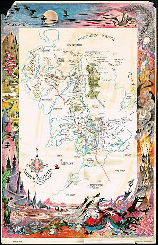Best 25 Map Of Middle Earth Ideas On Pinterest