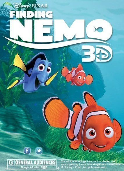 Finding Nemo (2003) Directors: Andrew Stanton and Lee Unkrich. Voices by Albert Brooks, Ellen DeGeneres, Alexander Gould, Willem Dafoe, Vicki Lewis, Andrew Stanton and Nicholas Bird. After his son is captured in the Great Barrier Reef and taken to Sydney, a timid clownfish sets out on a journey to bring him home. A Pixar family friendly film.