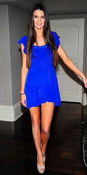 Love cobalt and this dress.
