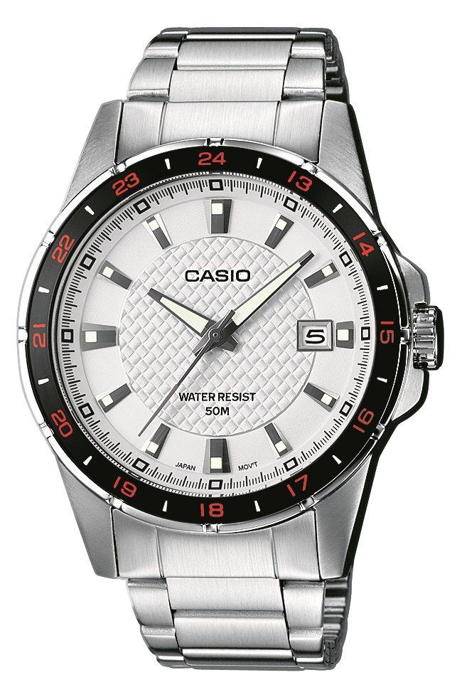 Casio Collection MTP 1290D-7AVEF karóra. Elemmel működő óraszerkezetet kapott az ezüst, kör alakú tokkal ellátott MTP 1290D-7A férfi karóra. Az óra csak alap szinten vízálló, tusolásnál még használható. OLVASS TOVÁBB!