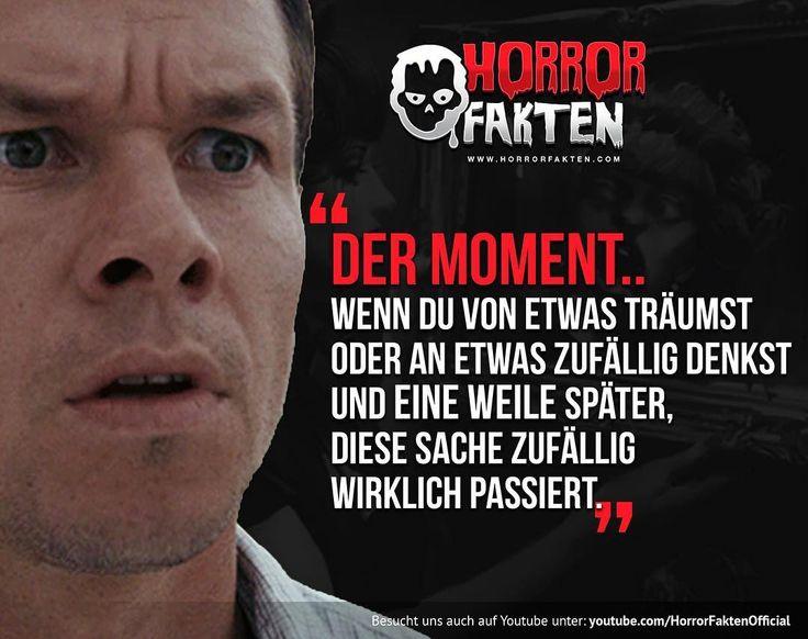 ❝Das passiert mir andauernd so ähnlich: Ich stell mir etwas vor, und das passiert dann! O.o ❞  #horrorfakten