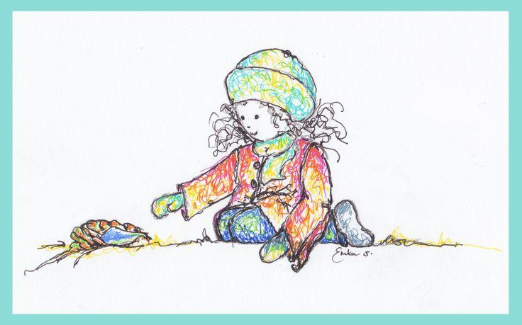 Girl with Shell - Erika Reid Illustrations