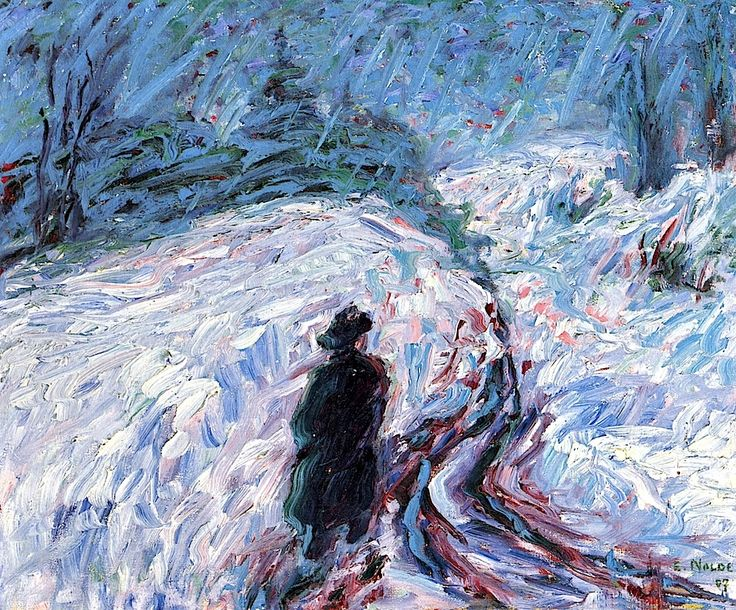 """Winter"" by Emile Nolde, 1907"