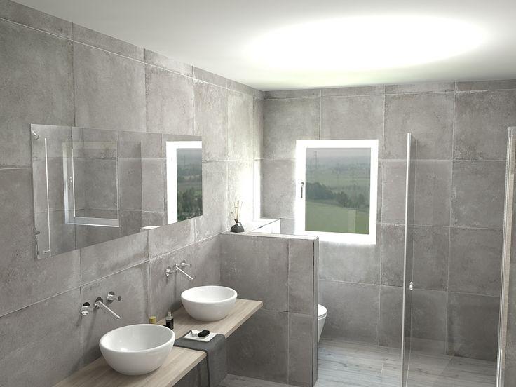 I beton bij regge tegels vloeren betonlook pinterest - En grijze bad leisteen ...