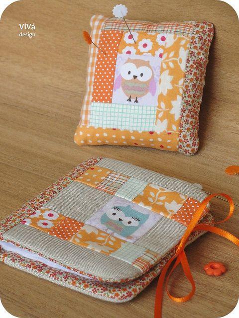 Needle book + Pincushion + Sewing pouch = Super Über Kit de costura! Depois posto uma foto dos 3 juntinhos! =P