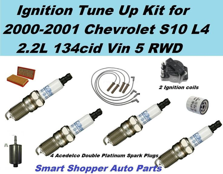 Ignition Tune Up For 00-01 Chevrolet S10 L4 Ignition Coil, Spark Plug Oil Filter #AftermarketProducts