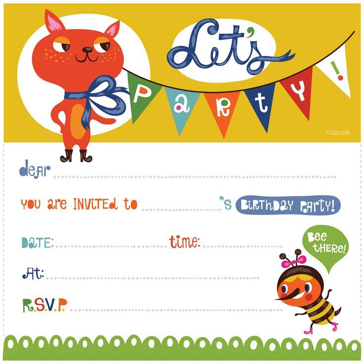15 Free Printable Birthday Invitations You Can Print: Let's Party! by Orange You Lucky!