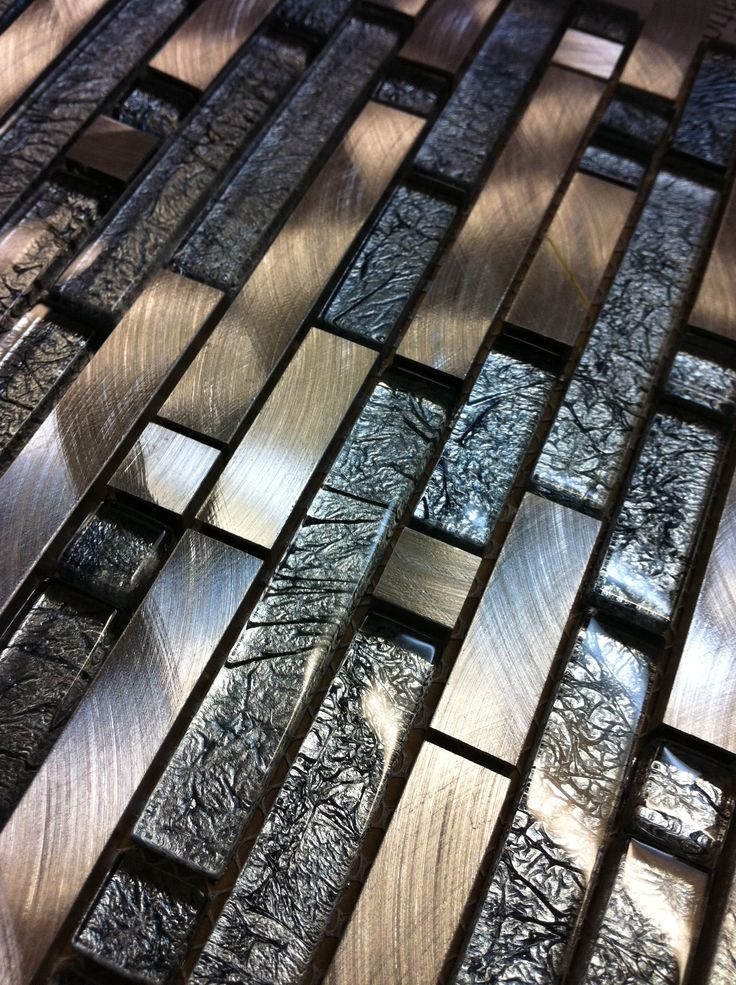 Graphite colored subway tile...stunning...