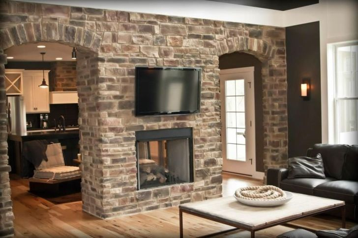31 Gorgeous Double Sided Fireplace Ideas For Your Living Room In