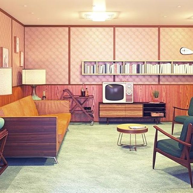 Recreation Room Design Ideas: 17 Best Images About Vintage And Midcentury Initerior