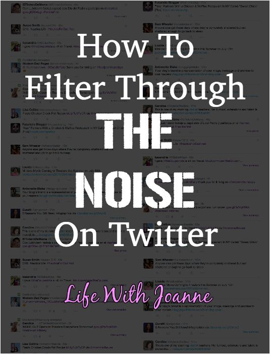 How to filter through the noise on Twitter. #blogging #business