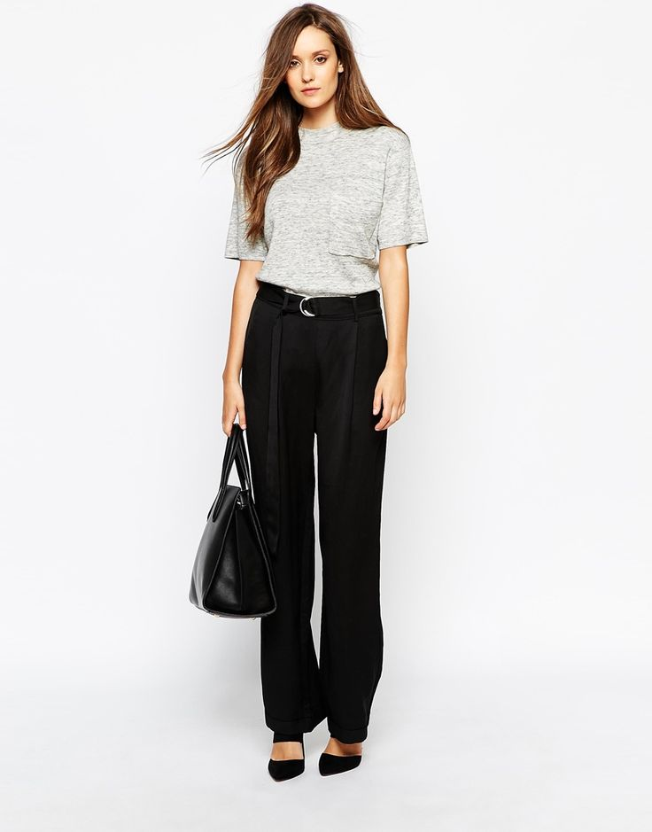 Image 1 ofWhistles Trousers with Tie Waist