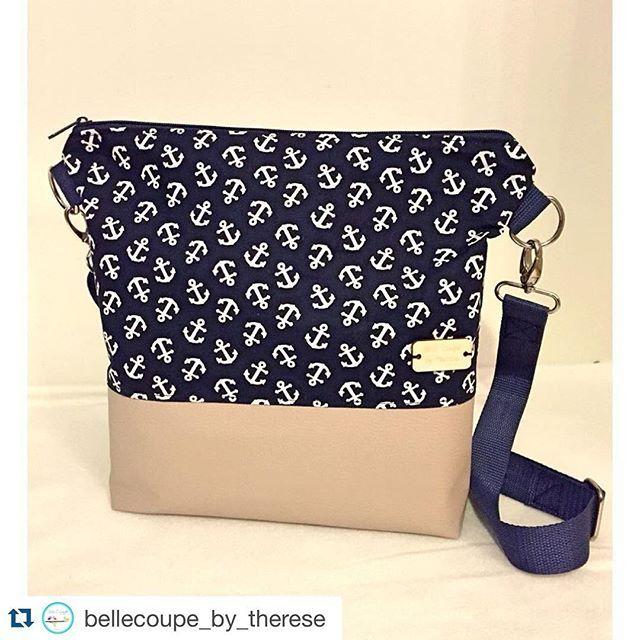 #Repost Einen sonnigen guten Morgen wünsche ich euch ☀️ die liebe @bellecoupe_by_therese hat eine maritime Milow nach meinem Freebook genäht! Sieht die Tasche nicht toll aus? ⚓️