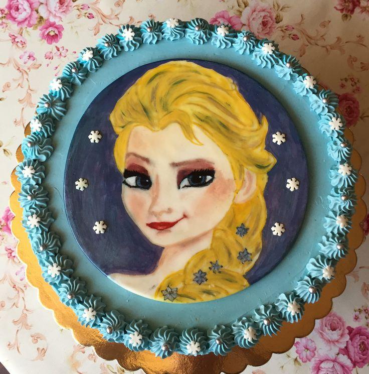 2017/07/16 hand painted Elza cake