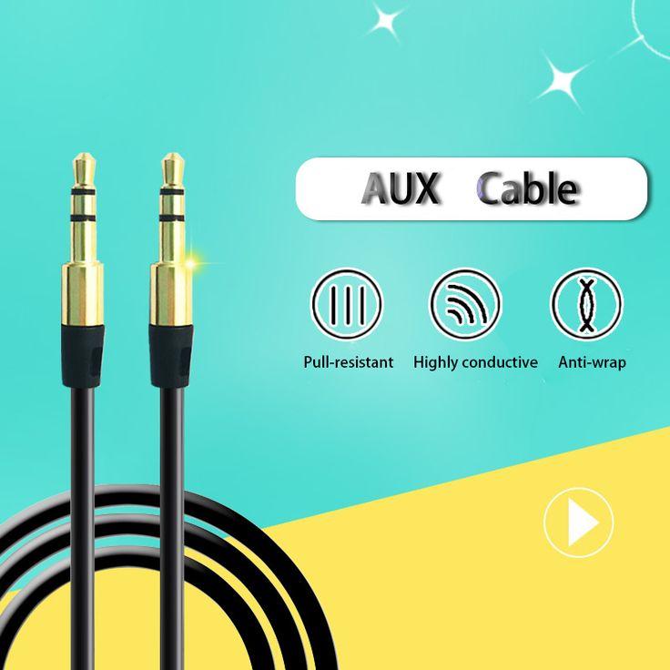 3,5mm stecker-stecker-adapter Stereo Jack 3,5mm Aux Kabel für iphone 7 6 6 s usb car audio kopfhörer verlängerungskabel draht aux kabel