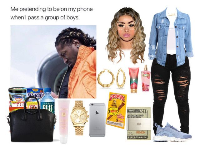 """""""BIG Ballin"""" by swaavvyya on Polyvore featuring NIKE, BasicGrey, Jack Spade, Ray-Ban, Givenchy, Lancôme, Michael Kors, Bling Jewelry and Victoria's Secret"""