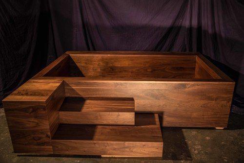 Custom Modern Walnut Soaking Tub Nk Woodworking