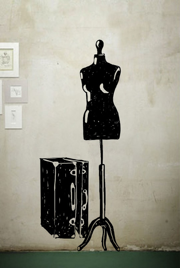 hand drawing wall stickers by Diana Ghyczy, via Behance