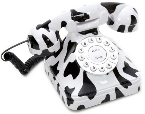 cow retro phone