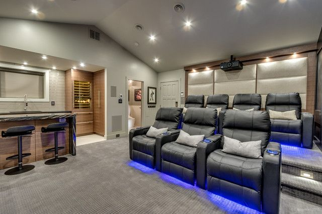 A Garage Is A Great Space To Convert To A Home Theatre Houzz