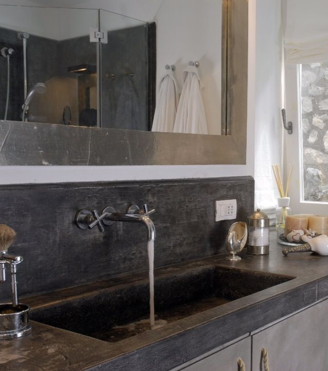 This is a large sink, bathroom vanity, but I'd rather have it for my kitchen!!!