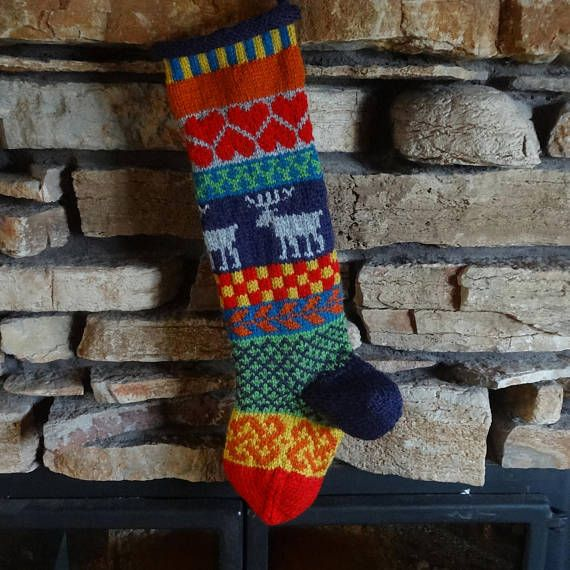 Knit Christmas Stockings Personalized Knit Christmas