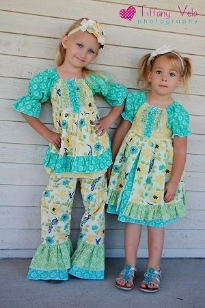Paired with Bonnie's Princess Ruffle Pants Pattern